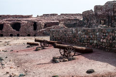 Portuguese fortress on Hormoz island Stock Images