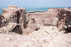 Portuguese fortress on Hormoz island Royalty Free Stock Photo