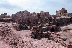 Portuguese fortress on Hormoz island Royalty Free Stock Photography