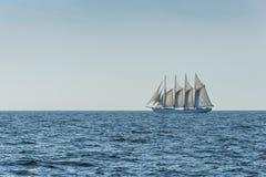 Portuguese four-mast schooner Santa Maria Manuela sailing Stock Photo