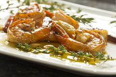 Portuguese Garlic Shrimp Stock Photo