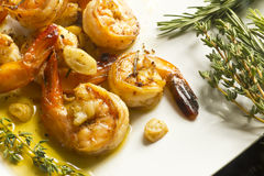 Portuguese Garlic Shrimp Stock Image