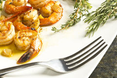 Portuguese Garlic Shrimp Royalty Free Stock Photos