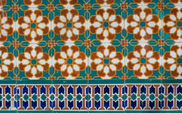 Portuguese glazed tiles 230 Stock Image