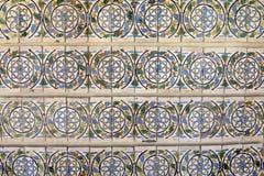 Portuguese Glazed Tiles Wall, Handmade, Textures, Art Royalty Free Stock Photo