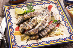 Portuguese Grilled Sardines Royalty Free Stock Photos