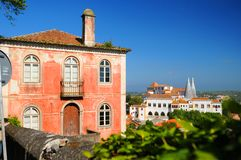 Portuguese home in Sintra. Exterior of colorful Portuguese home in city of Sintra royalty free stock images