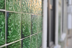 Portuguese house decorated with tiles Stock Photography