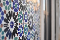 Portuguese house decorated with tiles Royalty Free Stock Photos