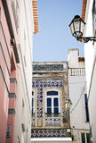 Portuguese house line Royalty Free Stock Image