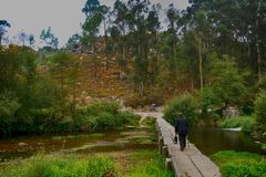 Portuguese landscapes on the way to Santiago de Compostela Royalty Free Stock Photography