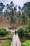 Portuguese landscapes on the way to Santiago de Compostela Royalty Free Stock Photo