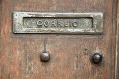 Portuguese letterbox Royalty Free Stock Photo