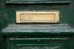 Portuguese letterbox Royalty Free Stock Image