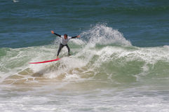 Portuguese Longboard Championship, Diogo Goncalves Stock Images