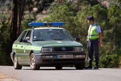 Portuguese Military Police Car Royalty Free Stock Photography