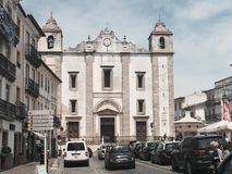 Portuguese monuments. Old portuguese church in Évora Royalty Free Stock Image