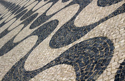 Portuguese Mosaic Street Tiles Stock Images