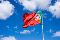 Portuguese national flag Royalty Free Stock Photos