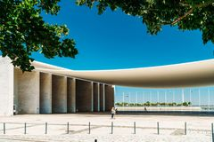 Portuguese National Pavilion In Lisbon By Alvaro Siza Vieira. LISBON, PORTUGAL - AUGUST 10, 2017: Portuguese National Pavilion In Lisbon Was Built By Alvaro Siza Royalty Free Stock Photography