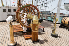 Portuguese navy training tallship Sagres III, Praia, Cape Verde Stock Photography