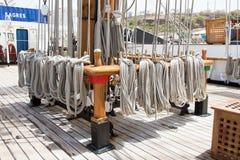 Portuguese navy training tallship Sagres III, Praia, Cape Verde Stock Image