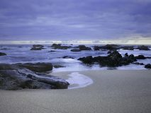 Portuguese overcast seascape royalty free stock images