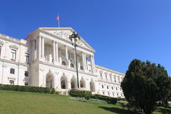 The Portuguese Parliament. Building in Lisbon, Portugal royalty free stock photography
