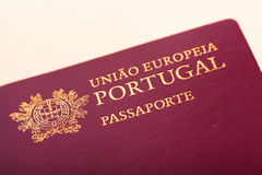 Portuguese passport Stock Images