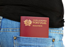 Portuguese Passport Stock Image