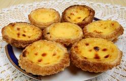 Portuguese pastries stock images