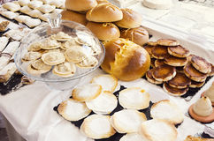 Portuguese Pastries, Bread, and Baked Goods Royalty Free Stock Image