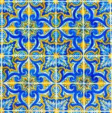Portuguese Pattern Tiles, Handmade Glazed Colorful Tile, Backgrounds, Portugal Colorful Street Art, Travel Europe Royalty Free Stock Image