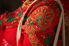 Portuguese patterns. Colored fabric with traditional portuguese pattern and design stock photo