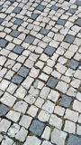 Portuguese pavement, calçada portuguesa Stock Photos