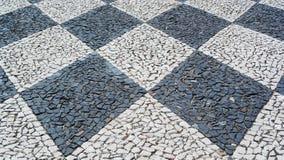Portuguese pavement, calçada portuguesa Stock Images