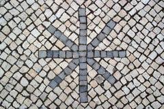 Portuguese pavement, Calcada portuguesa Royalty Free Stock Photo