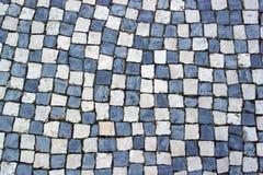 Portuguese pavement, Calcada portuguesa Royalty Free Stock Photography