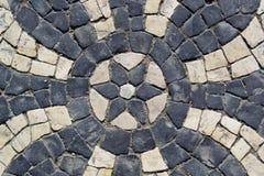 Portuguese pavement, calcada portuguesa Royalty Free Stock Images