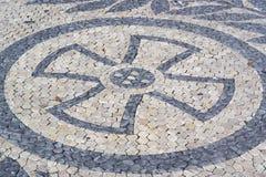 Portuguese pavement, calcada portuguesa Stock Images