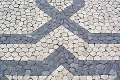 Portuguese pavement, calcada portuguesa Royalty Free Stock Photos
