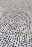 Portuguese pavement, Calcada portuguesa Royalty Free Stock Photo