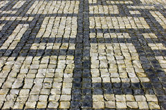 Portuguese pavement at Lisbon, Portugal Stock Photography