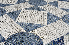 Portuguese pavement in Lisbon, Portugal Stock Photos