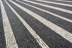 Portuguese pavement, Lisbon, Portugal Royalty Free Stock Photography