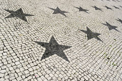Portuguese pavement, Lisbon, Portugal Royalty Free Stock Image