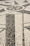 Portuguese pavement - texture. Portuguese pavement - beautiful plaza ground Stock Photo