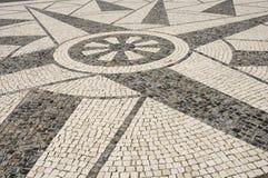 Portuguese pavement - texture. Portuguese pavement - beautiful plaza ground Stock Photos