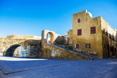 Portuguese pirate fortress. Inside the portuguese pirate fortress in Morocco Stock Photos