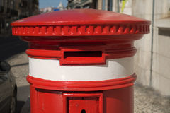 Portuguese Red Letter Box Royalty Free Stock Photo